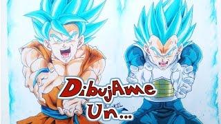 Como dibujar a GOKU Y VEGETA SUPER SAIYAN BLUE. HOW TO DRAW GOKU & VEGETA | DRAGON BALL SUPER