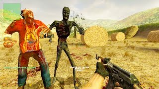 Counter Strike Source - Zombie Horde Mod Online Gameplay on cs_harvest map