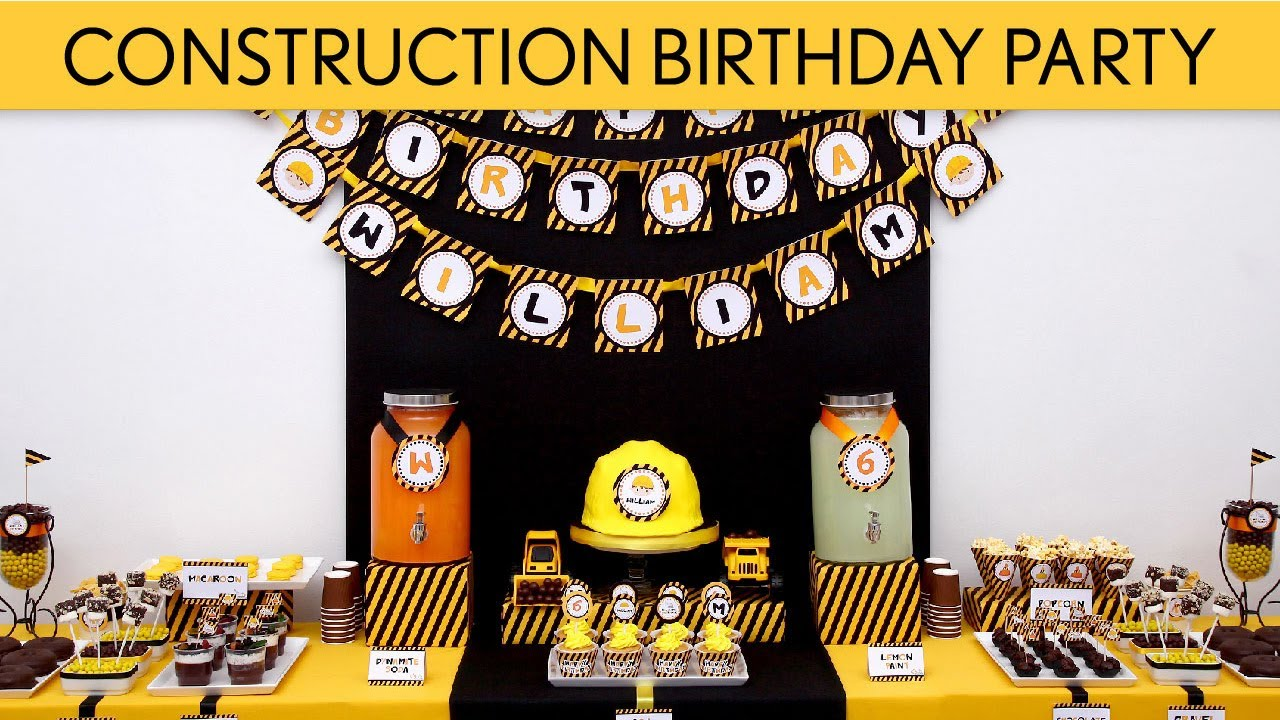 Construction Birthday Party Decorations Construction Birthday Party Ideas Construction B2 Youtube