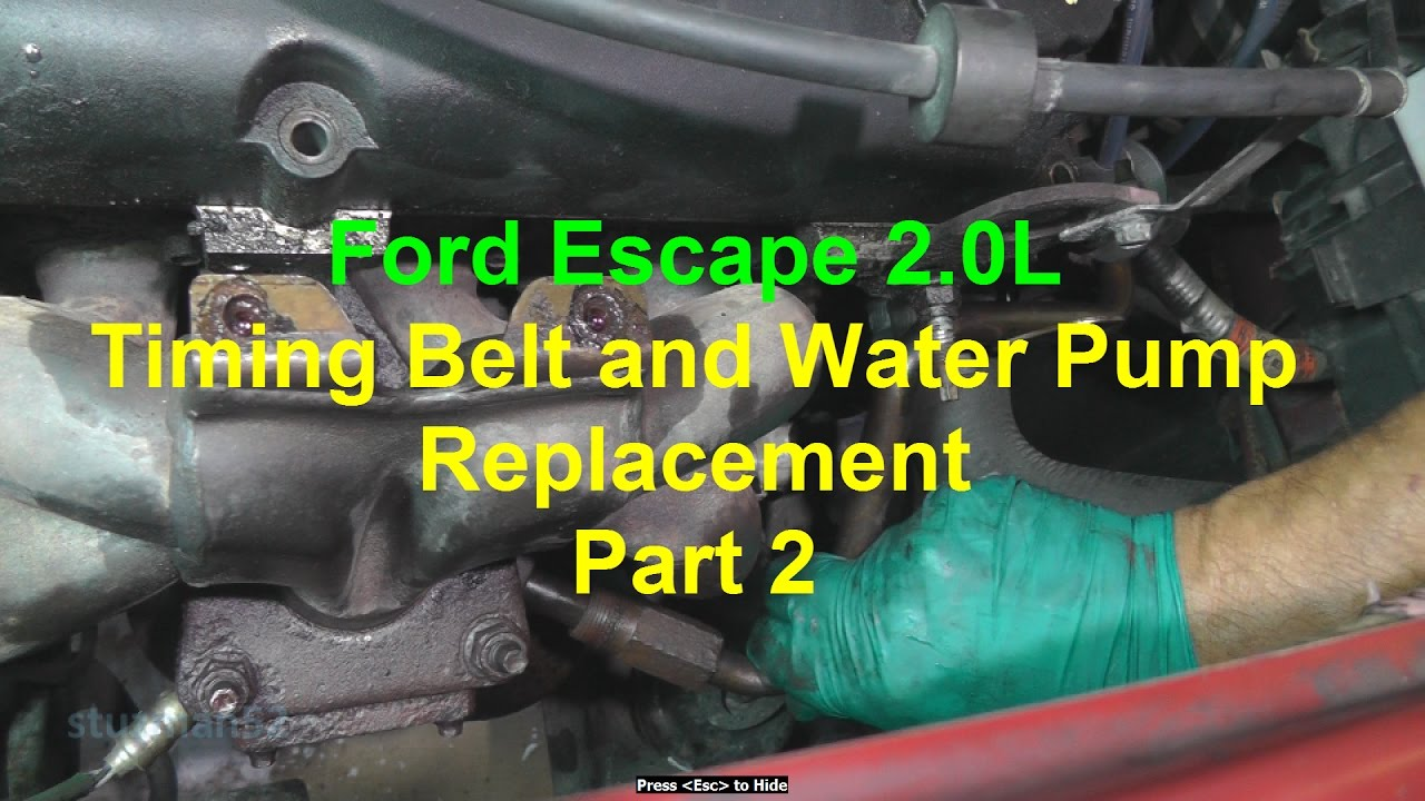 ford escape timing belt  water pump replacement part