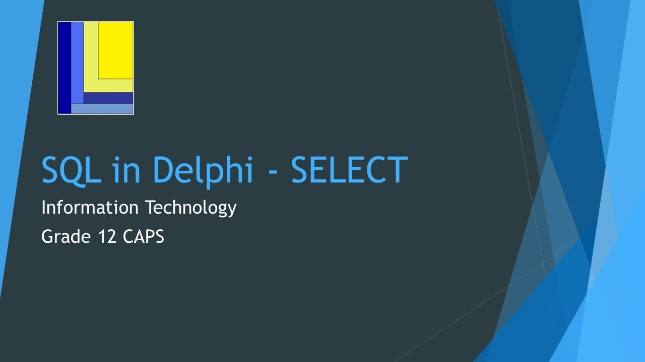 How to do an SQL SELECT in Delphi