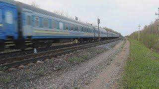 Поезд №053А Санкт-Петербург — Киев. Разъезд 241 км, Псковская область