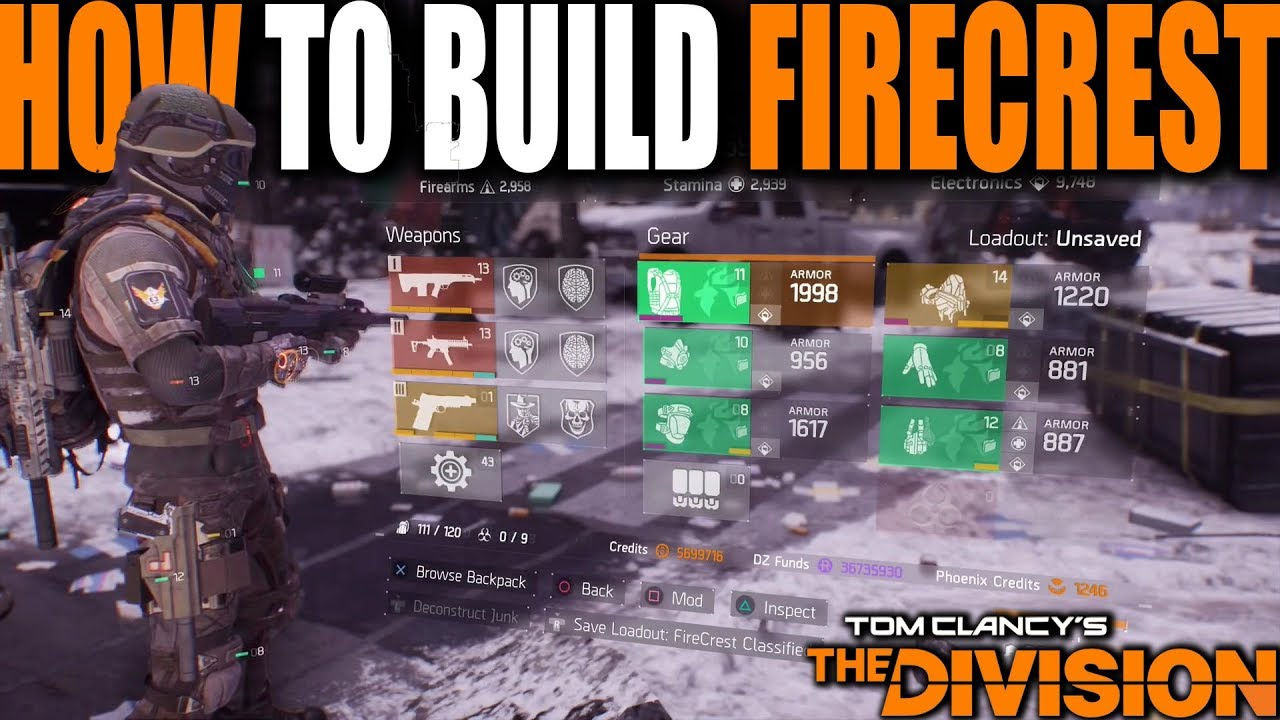 The Division How To Build Classified Firecrest For Max Flame Turret Damage Full Build Guide Youtube