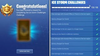 """The FINAL """"Ice Storm Challenges"""" REWARD.. (Fortnite Winter's Thorn)"""
