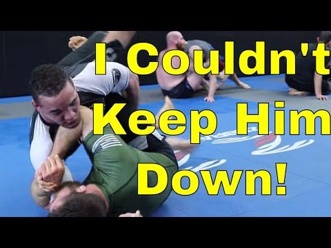 BJJ Black Belt Struggling To Sweep 2X National Wrestling Champion