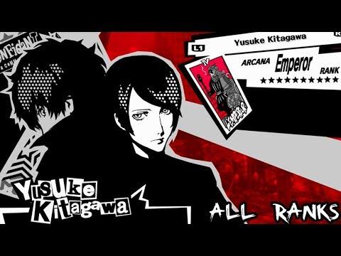 Persona 5 - Emperor Confidant: Yusuke Kitagawa (All Ranks)
