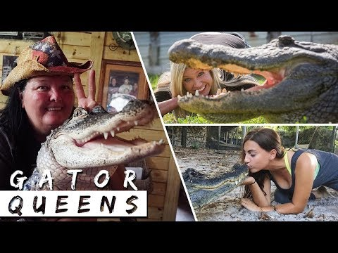 The Daredevil Women Who Play With Alligators   GATOR QUEENS
