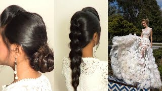 2 Easy and Perfect Hairstyles For Beautiful White Dresses