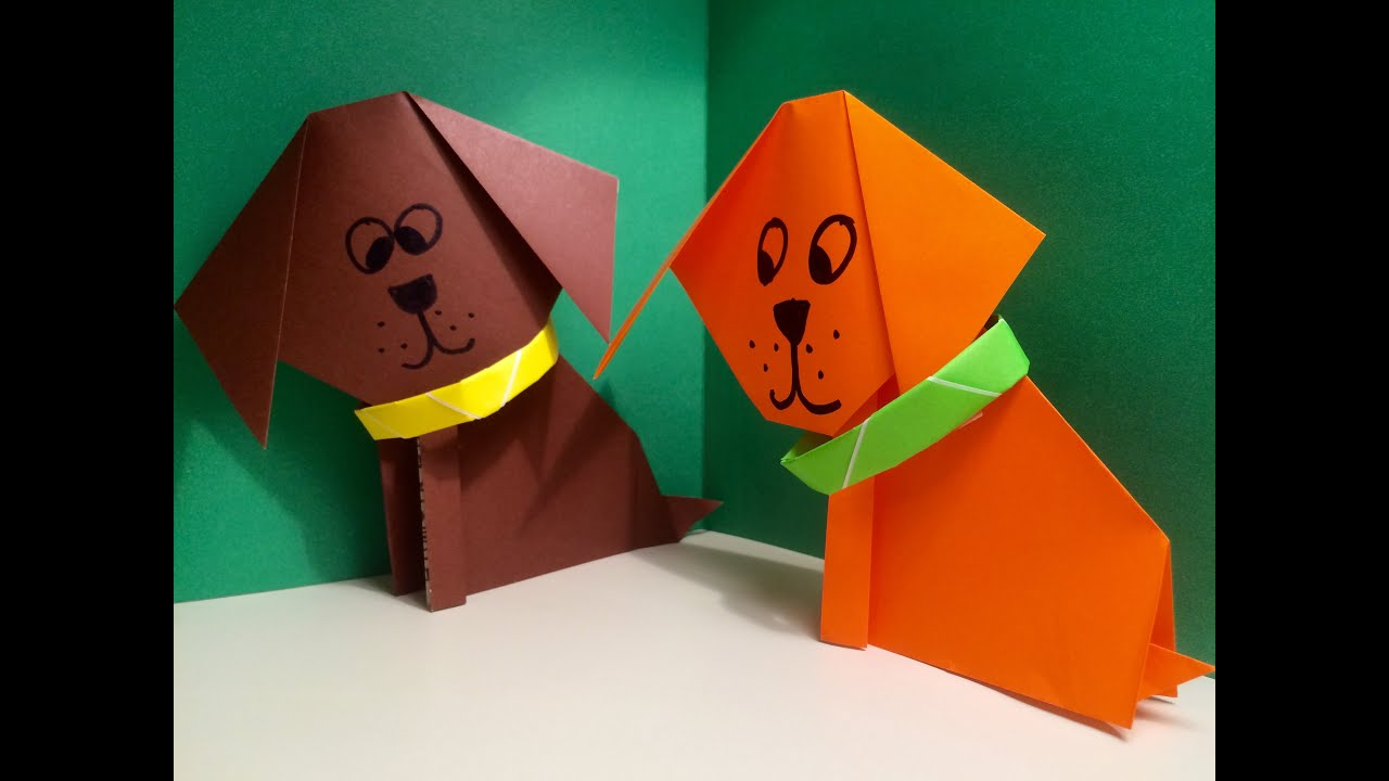 Origami dog face how to origami -