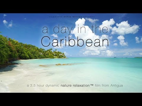 """A Day in the Caribbean"" UHD 3.5 HOUR Dynamic 4K Nature Relaxation™ Film - Antigua (No Music)"