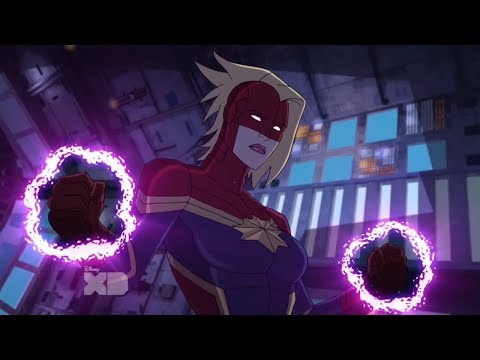 Captain Marvel Fight Scenes - Avengers Assemble
