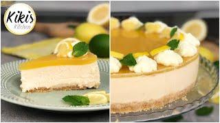 No Bake: Locker leichte Zitronen-Joghurttorte ohne Gelatine / Köstliche Zitronentorte mit Agartine