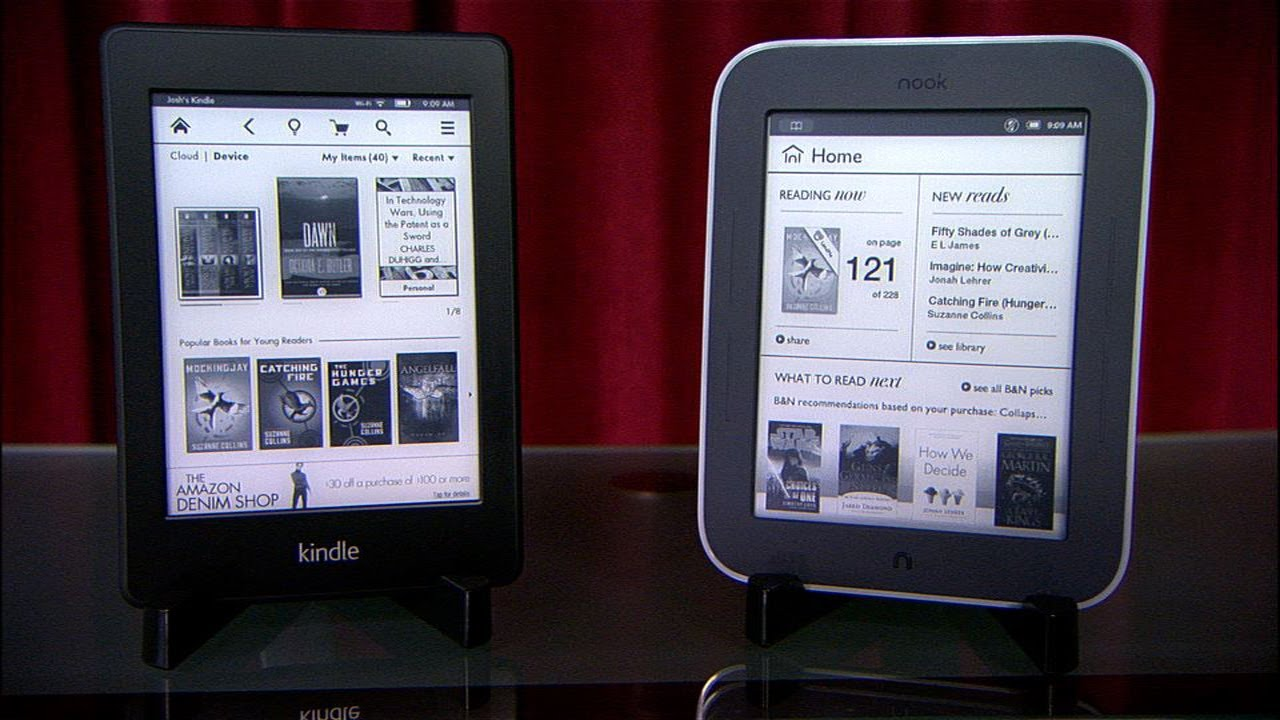 Nook Reader Vs Kindle Reader: Kindle Paperwhite Vs. Nook Simple Touch With