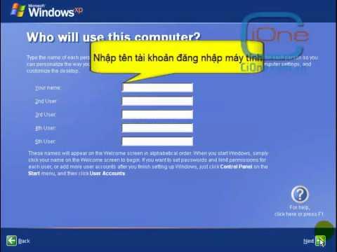 Hướng dẫn cài đặt hệ điều hành Windown XP Professional - Phần Cuối