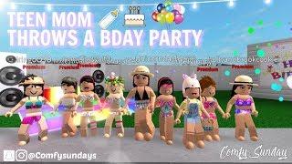 TEEN MOM, BABY BIRTHDAY!! II Roblox Bloxburg