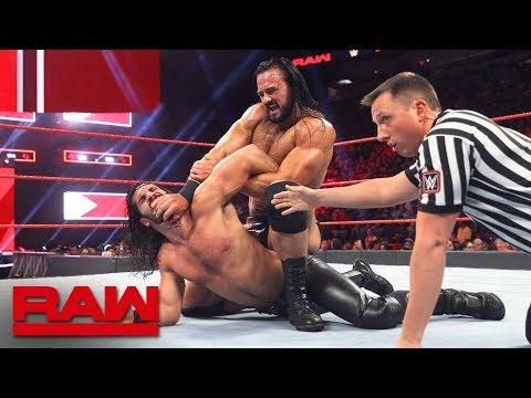 Seth Rollins vs. Drew McIntyre: Raw, July 30, 2018