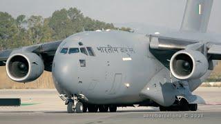 [4K] Indian Air Force C-17 at Barcelona-El Prat