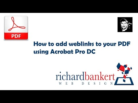 How to add a weblink to a PDF using Acrobat Pro DC