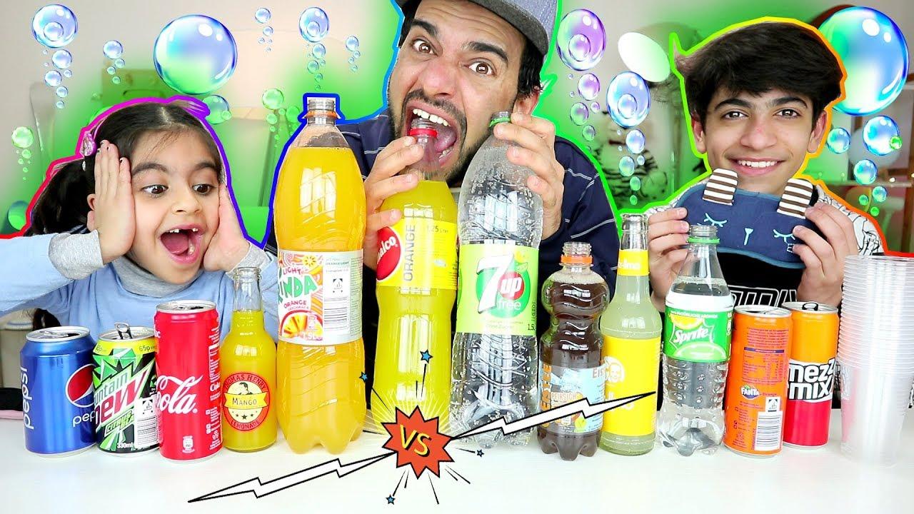 تحدي تذوق ومعرفة المشروبات الغازية بين زينب ورضا والخاسر؟ Soda Taste Test Challenge