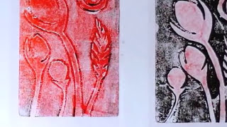 Monoprinting with cut paper