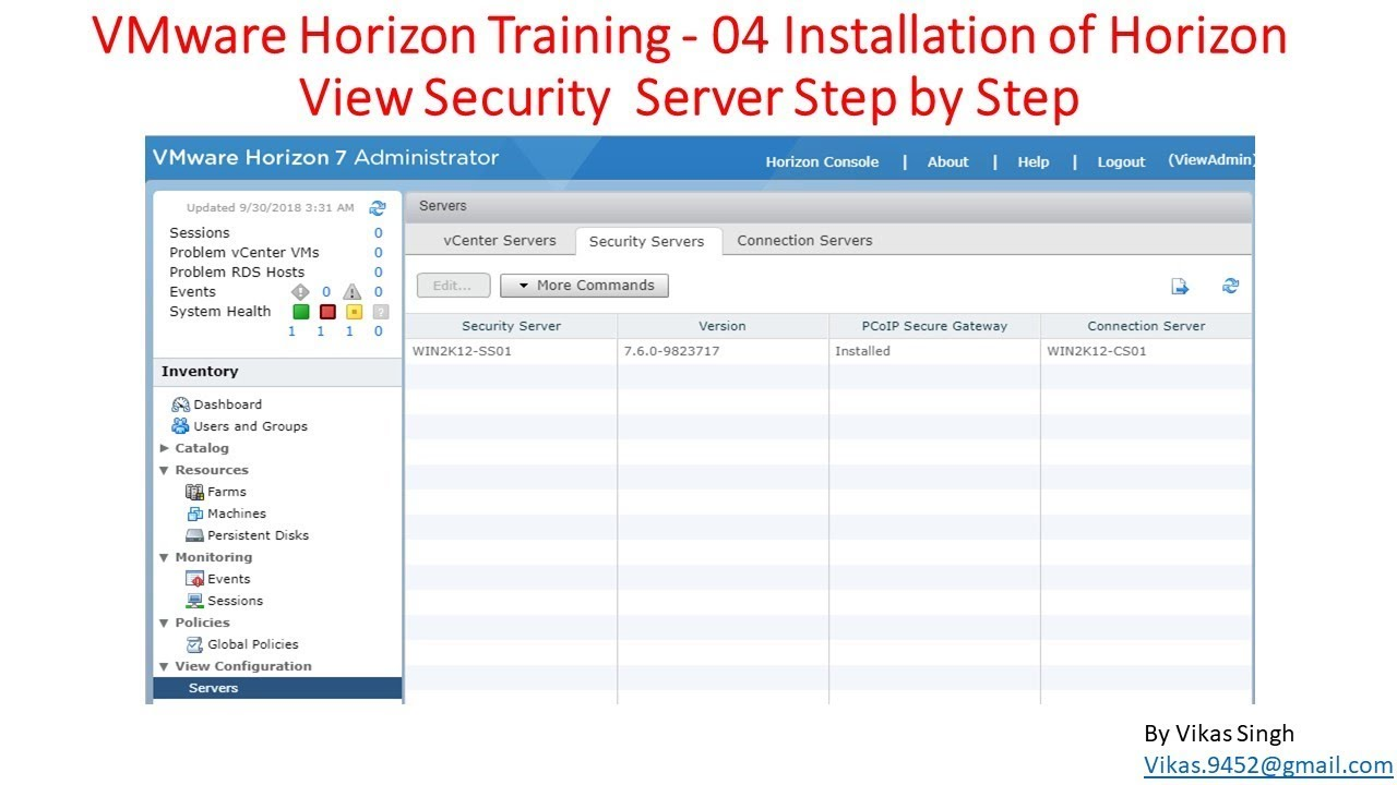VMware Horizon Training | 04 - Installation of Horizon View Security Server  Step by Step
