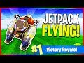 NEW Jetpack Update is Here! - Flying in Fortnite (Fortnite: Battle Royale LIVE Gameplay)