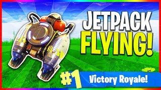 NEW Jetpack Update is Here! - Flying in Fortnite (Fortnite: Battle Royale LIVE Gameplay)