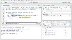 Creating an interactive menu (R)