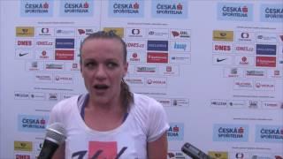 Simona Vrzalová po zisku dvou medailí na MČR