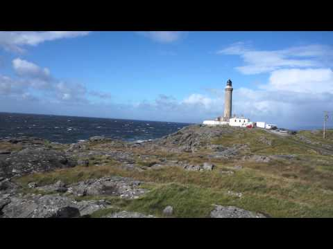 Ardnamurchan Point windy and stormy seas