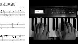 Husavik (Sigrit's Song) Eurovision Fire Saga Piano Cover Music Sheet