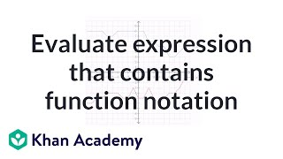 How to evaluate an expression that contains function notation (example) | Algebra I | Khan Academy thumbnail
