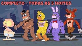 Mongo e Drongo em Five Nights at Freddy's COMPLETO - as 5 noites - FNAF 1 - desenho animado