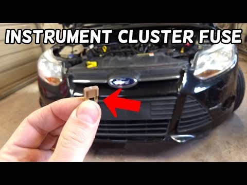 INSTRUMENT CLUSTER FUSE LOCATION AND REPLACEMENT FORD FOCUS MK3 2012-2018