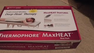 Thermophore MaxHeat Battle Creek Heating Pad Heat Pack Review