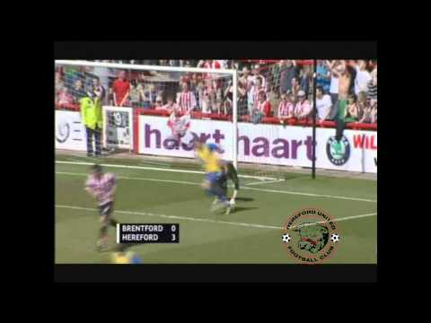 Hereford United Promotion to League One at Brentford - Goals 3-0