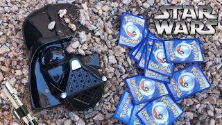 DARTH VADER OPENS POKEMON CARDS FOR THE FIRST TIME EVER! *hilarious*