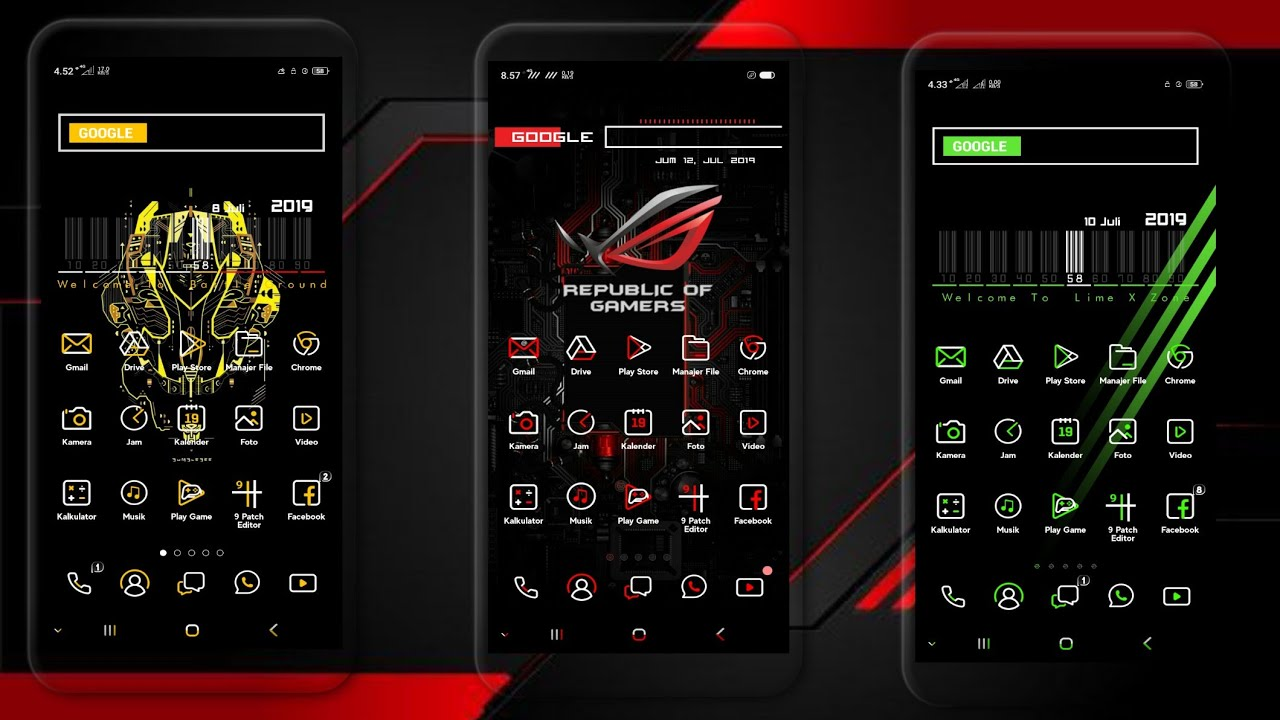 LIME-X SERIES - 3 THEME KEREN FOR OPPO AND REALME - Thủ thuật máy