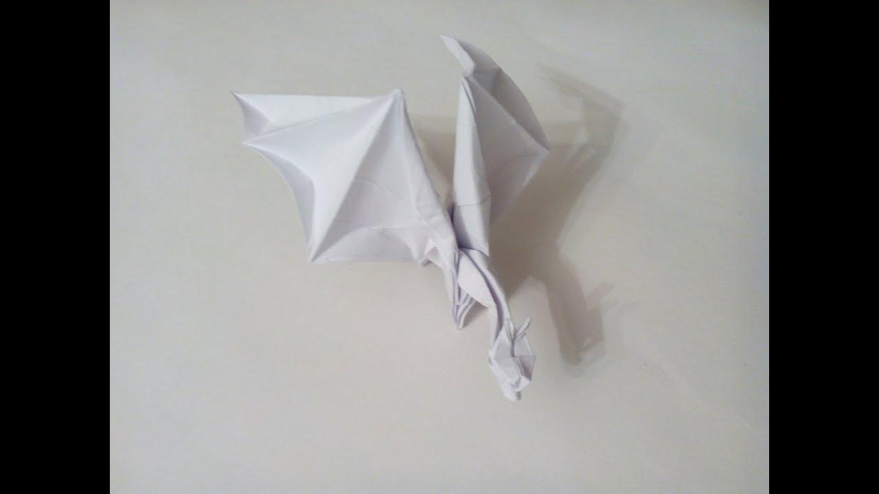 оригами дракон пошаговая инструкция