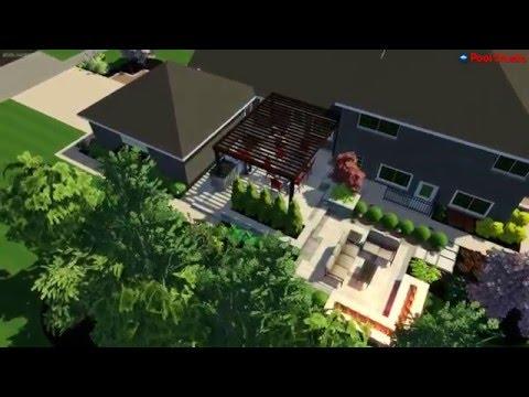 Glenview, IL - 3D Outdoor Living Landscape Design - VizX Design Studios - (855) 781-0725