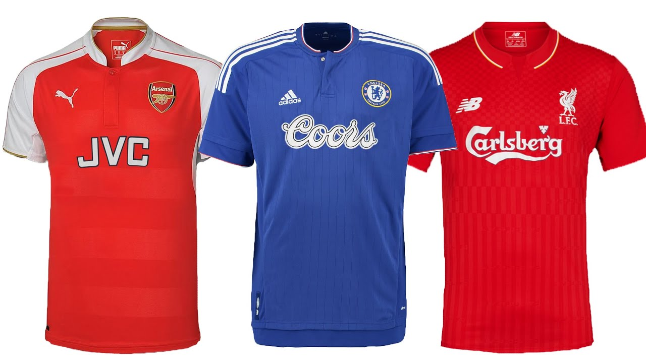 382dae80109 2015 16 Premier League Shirts With Classic Sponsors. talkSPORT