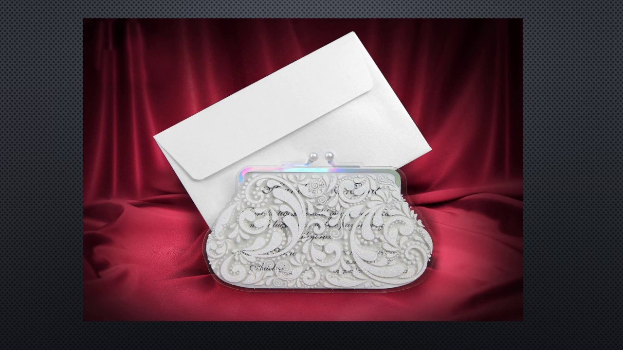 Luxury Wedding Invitations Laser Cut Wedding Cards - YouTube