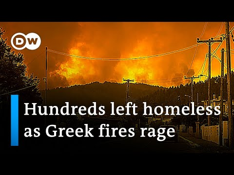 Wildfires in Greece: 39 Villages Evacuated, Homes and Businesses Destroyed