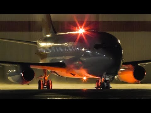 Air Inuit Boeing 737-200 Startup, Taxi, And Takeoff From Calgary Airport