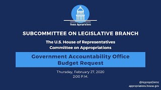 Government Accountability Office FY2021 Budget Hearing (EventID=110531)
