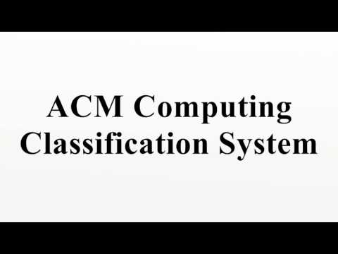 ACM Computing Classification System
