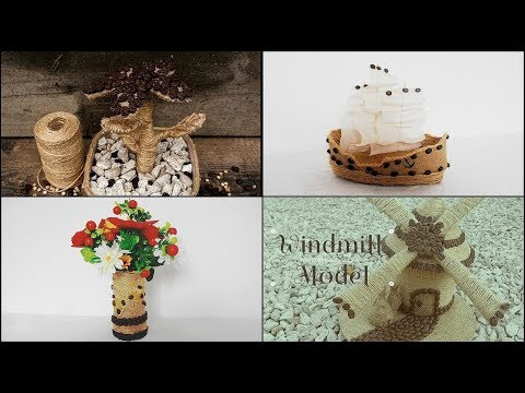 4 DIY Coffee Beans and Twine Craft Ideas * Crafts made from coffee beans * Поделки из кофейных зерен