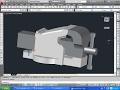AutoCAD 3D Modeling - BENCH VISE PART 1 tutorial