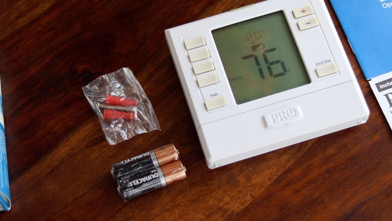 Pro1 T755 Thermostat Is The Every Home Thermostat Youtube