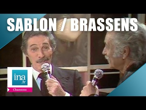 "Jean Sablon et Georges Brassens ""Paris, tu n'as pas changé"" 